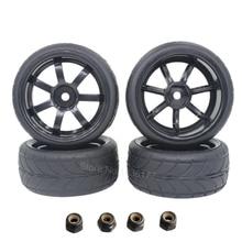 4 unids RC Neumáticos Llantas 26mm Relleno De Espuma Hex Mount 12mm Para 1/10 El Coche Modelo Del Camino partes