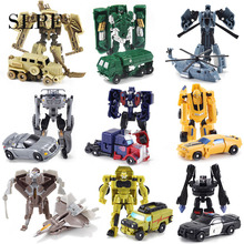 SLPF Toys Children Car Transformation Deformation Robot Plastic Assembly Assembling Model Boy Gift  Action Figure Pocket Toy N01 deformation toys king kong 4 league level ground lamp robot car model children toy boy gifts
