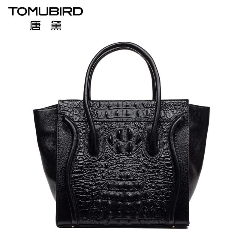 2016 New genuine leather women bag fashion alligator grain embossing  women handbags shoulder bag perfectly leather art bag