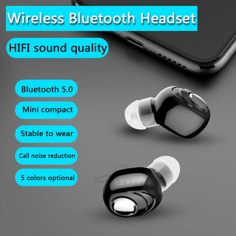 Roreta Mini Không Dây Bluetooth Tai Nghe Chụp Tai kèm Mic Tai Nghe Tai Nghe Nhét Tai Tai nghe chụp tai Bluetooth 5.0 Thể Thao Tai Nghe cho iPhone XR Samsung
