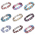 High Quality Hot Sale Multicolour Charm Womens Mens Jewelry 316L Stainless Steel Top CZ Bike Motorcycle Chain Bracelet Jewelry