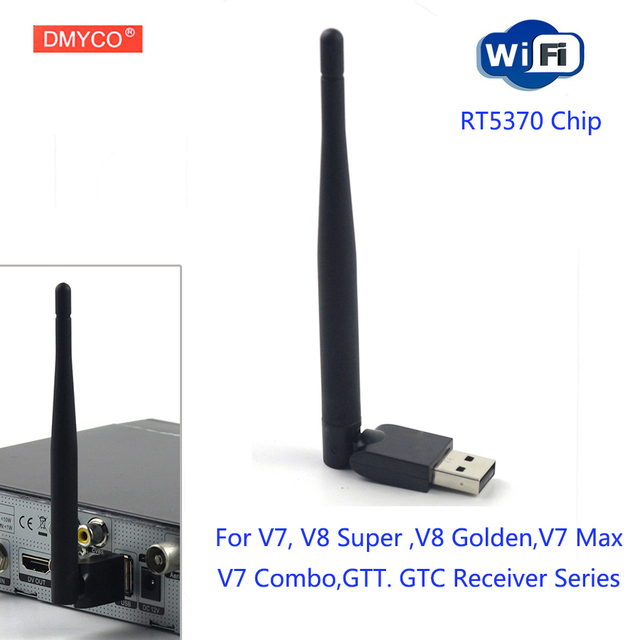 RT5370 Wifi For satellite receiver DVB-S2 USB adapter Antenna 150M Receiver Wireless 802.11n/g/b LAN For V7 V7S V8 Super V8 NOVA
