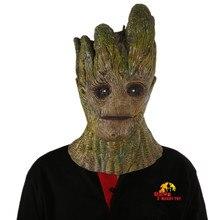 X-веселая игрушка страж galaxy 2 партии cosplay реквизит супергероя затирка дерево человек стиль маска маскарад хэллоуин реалистичный маска