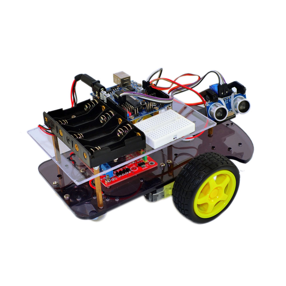 Intelligent Tracking The Car DIY 2WD Robot  Car Chassis HC-SR04 Ultrasonic Intelligent Car For Arduino