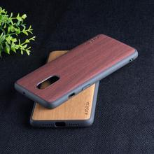 Wooden Pattern case for Oneplus 7 soft TPU silicone material&wood PU leather skin covers coque fundas for Oneplus 6 6T 7 7T pro(China)