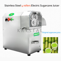 Automatic sugarcane juice extractor Stainless Steel Electric Sugarcane Juicer Machine with 3 or 4 Rollers Sugarcane juice press