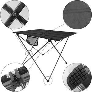 Image 5 - Mesa plegable portátil para pícnic, mesa de comedor al aire libre, ultraligera, alta Tabla de calificación, escritorio, mesa de Camping de aleación de aluminio 7075, color negro