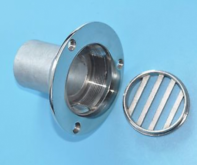 2PCS 1-1//2 Inch Boat Deck Drain Yatch Marine stainless steel 316 Height Silver