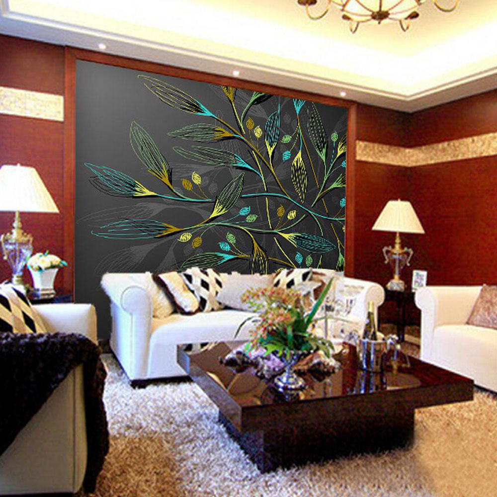 3D Abstract Wall Murals Dark Leaves HD Photo Wallpaper For Bedroom Wall  Paper Custom Size 3d Wallpaper Walls Washable Wallpaper In Wallpapers From  Home ... Part 69