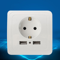 Home Useful Wall Charger Adapter EU Plug Socket 2 1A High Quality Power Outlet Panel Dual