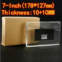 7inch(178*127mm)Transparent  Acrylic photo frame picture with Magnet-(Thickness:10mm+10mm)
