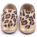 Newborn Kids Girl Leopard Print Shoes Baby Faux Leather Slip On Crib Prewalker for All Seasons