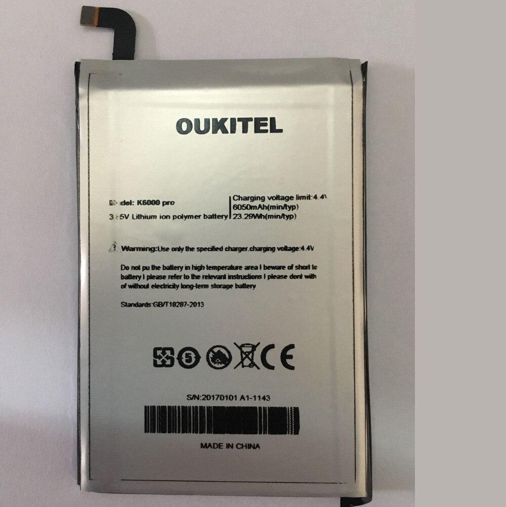 Oukitel K6000 Pro Remplacement de La Batterie D'origine de Grande Capacité 6000 mAh Back Up Batteries Pour Oukitel K6000 Pro