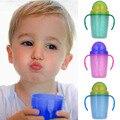 230 ml de Doble Capa de Bebé Taza de Entrenamiento PP BPA Libre con Paja manija Doble Todder Niños Aprender Beber Botellas