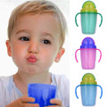 230ml Double Layer Baby Sippy Cup PP BPA Free with Straw Dual handle Todder Kids Learn Drinking Bottles
