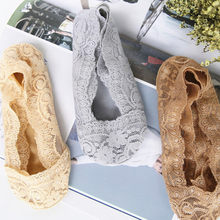 Lncdis New Fashion Floral Lace Slippers Boat Sock Women Short Moomin Stopki Calcetines Invisibles Mujer Chaussettes Bayan Bot D1(China)