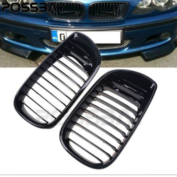 High Quality Automobiles Car Gloss Front Kidney Grille Grills For BMW 3-Series E46 Touring 2001-2006 Facelift grille