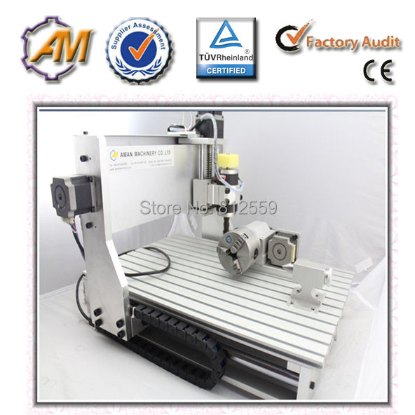 Brand New 4 Axis 3D Rotary 3040 CNC Router / Engraver Machine Free Ship by Sea