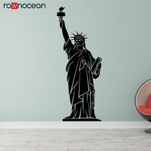 Statue Of Liberty New York Attraction Vinyl Wall Sticker Vinyl Home Decoration For Living Room Removable Mural Decals House 3368 цены