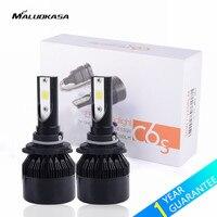 MALUOKASA 2PCs Car Headlight C6S H4 LED Bulb 6400LM H1 H3 H7 H8 H9 H11 H27