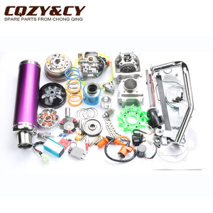 Image 4 - 52mm 105cc Big Bore Performance Kit GY6 50cc 139QMB Chinese Scooter Parts & 6 color muffler