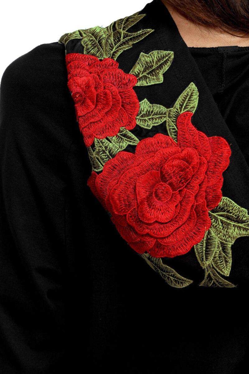HTB1gBWjRVXXXXasXpXXq6xXFXXX9 - FREE SHIPPING Floral Black Women Sweatshirt Hoodie JKP221