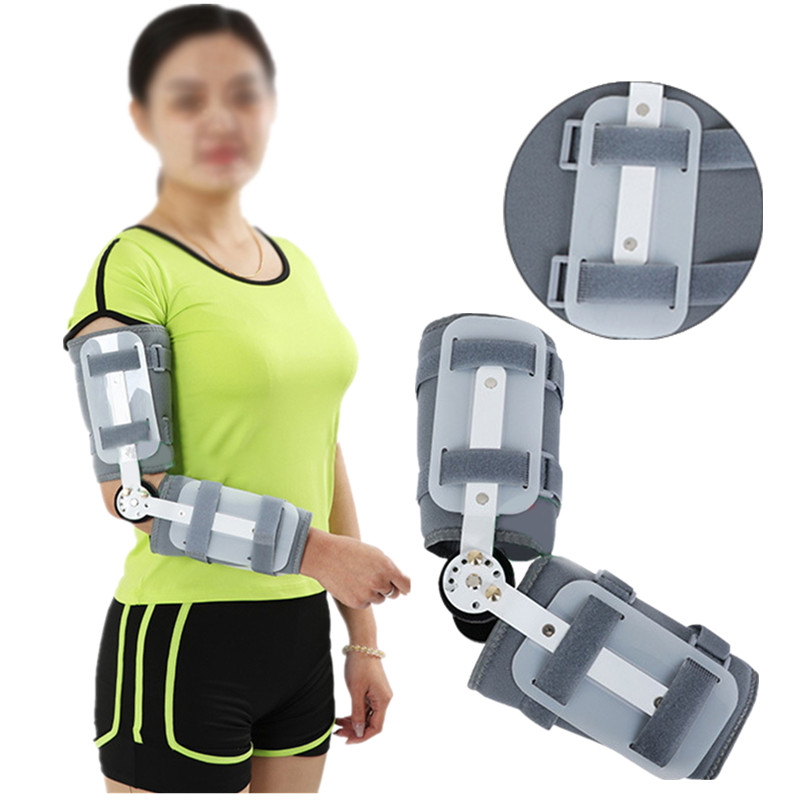 External Fixed Support Adjustable Elbow Brace Support Orthosis Device Brace Support for Left or Right Hand. Unisex