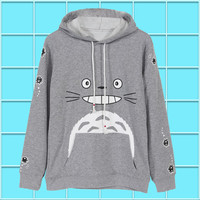 My Neighbro Totoro Men Women Boys Pullover Swet shirt Hoodie Winter Cotton Warm Cosplay Long Sleeve Gray