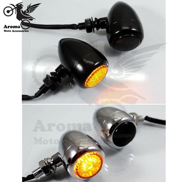 top quality metal Shell chrome black motorbike indicator for Harley Davidson moto flashers amber lighting motorcycle turn signal