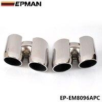Krom 304 paslanmaz çelik egzoz susturucu İpucu Porsche 14 Panamera 4 S EP-EM8096APC