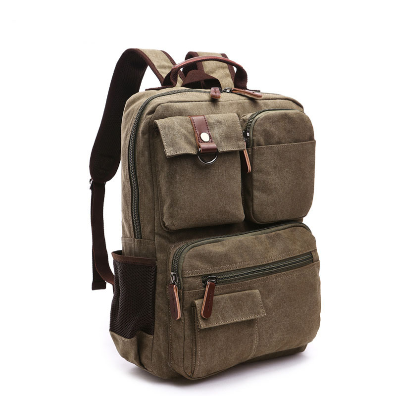 купить Men's backpack for student school bag teenagers Retro waterproof laptop bag High capacity Casual canvas backpack men Travel bag по цене 4215.85 рублей