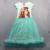 Los niños del Nuevo Verano Casual niñas de dibujos animados vestido de princesa Ariel vestido del tutú del algodón de malla transpirable suave al por menor
