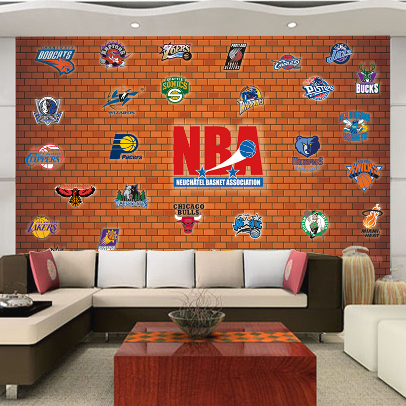 Papier peint basketball for Basketball mural wallpaper