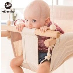 Canvas Baby Schommel Stoel Opknoping Hout Kinderen Kleuterschool Speelgoed Buiten Indoor Kleine Mand Swingende Schommelstoel Baby Speelgoed