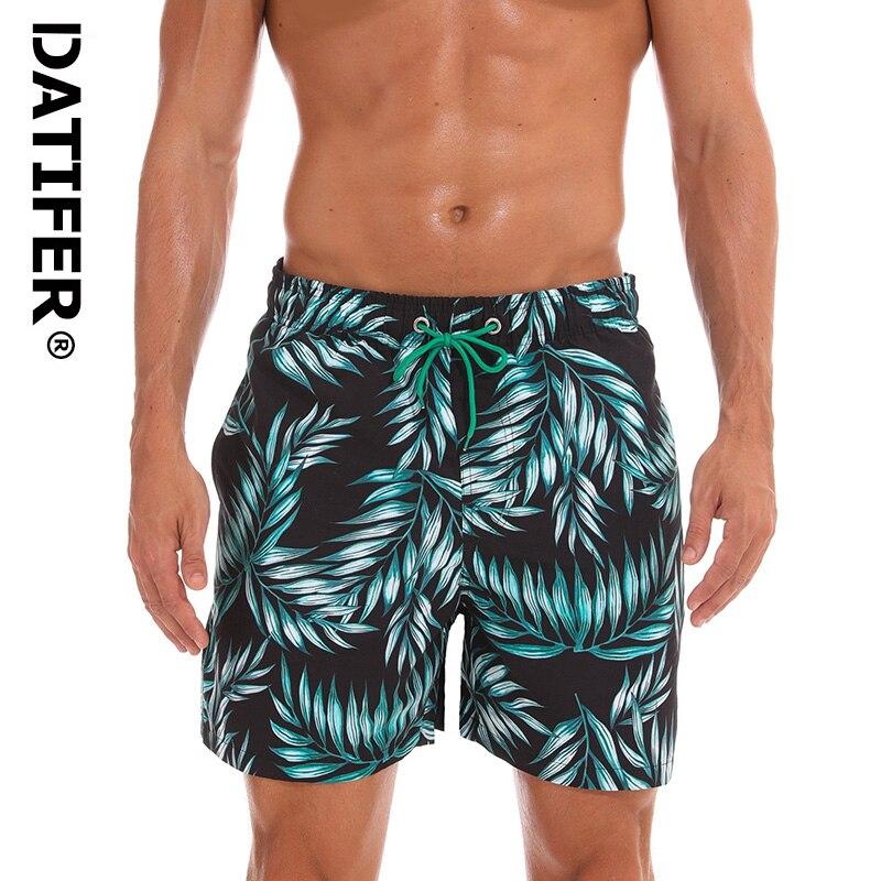 DATIFER ES3E 2019 Man Swimsuits Board Shorts Quick Dry Swimwear Plus Size XXXL Beach Wear Briefs For Men Surf Shorts