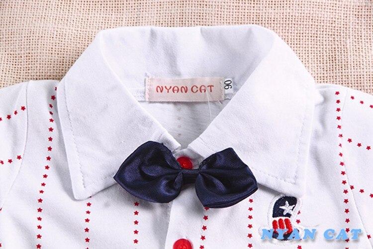 EMS, DHL,, летний комплект из 2 предметов для маленьких мальчиков, рубашка+ подтяжки штаны летняя одежда праздничный комплект одежды