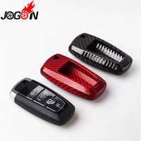 Carbon Fiber Car Auto Remote Key Case Cover fob Holder Skin Shell For Ford F Series F150 Mustang Fusion 2018 2019 Car styling