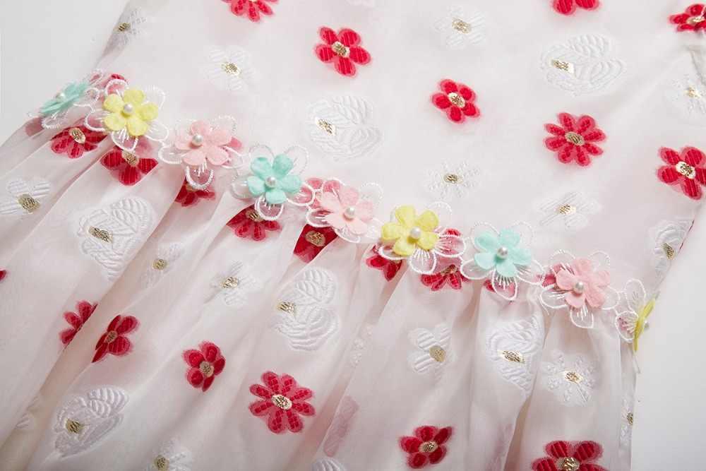 Cielarko kız baskı elbise pembe çilek yaz çocuklar elbiseler pamuk prenses plaj bebek elbisesi moda çocuk günlük giyim