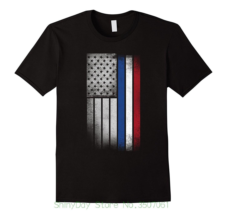 Été Manches Courtes Coton Fashiont Chemise Néerlandais Drapeau Américain-Usa Pays-Bas Drapeau T-shirt