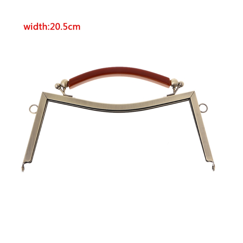 New 1PC Bag Accessories Metal Frame Clasp Handle Lock For Sewing Coin Purse DIY 20.5cm Bronze/Light gold