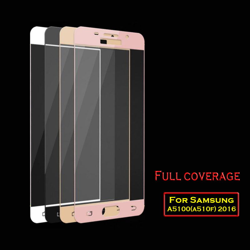9H Full Screen Tempered Glass For Samsung A5 2016 Screen Protector Film 0.2..