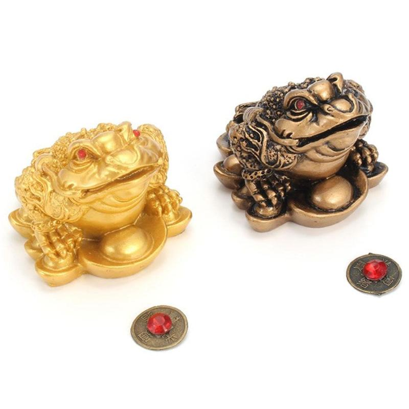 Feng Shui Money LUCKY Fortune Wealth Chinese For Frog Toad Coin Home Office Decoration Tabletop Ornaments Lucky Gifts
