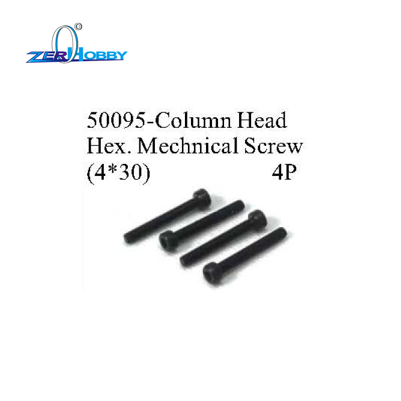 PART NO. 50095 4*30 AND 50099 6*40 COLUMN HEAD HEX MECHNICAL SCREWS FOR HSP 1/5 SCALE RC CARS 4PCS PER LOT