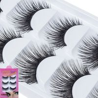 5Pairs/set Long Thick Elegant Handmade Natural False Eyelashes Soft Eye Lashes Extension Thick Bulky Makeup Style Tools False Eyelashes