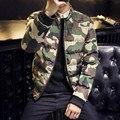 Winter Jacket Men 2016 Large Size Warm Windproof parka men Fashion Camouflage Stand Collar Men Jacket Size M-5XL