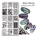 BORN PRETTY 1 Pc Nail Stamping Plate Geometry Rectangle Manicure Nail Art Image Plate Template BPX-L020