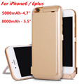 8000 mAh Power bank For iphone 6Plus Charger case 5000maAh External Battery Pack Backup Recharger Case for iPhone 6 6s