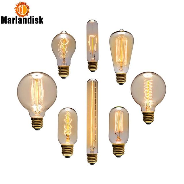 Prix de gros, ampoule Edison créative Vintage, ampoules incandiscentes pour la décoration du salon, chambre, ST64/A19/G80 (PD-71)