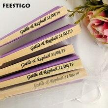 Abanicos plegables de seda personalizados para boda, regalos de boda para invitados, recuerdos de fiesta de aniversario, 50 Uds.