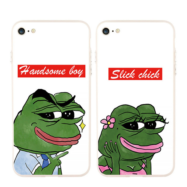 Y-ZU Phone Case For iPhone 6 6s 7 8 6 7 8 plus X Sadness Frog Lovers Hand  Shell Men Women Personality Originality Free Shipping 2bc01402aa